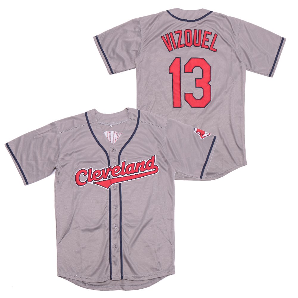 Indians 13 Omar Vizquel Gray Turn Back The Clock Jersey