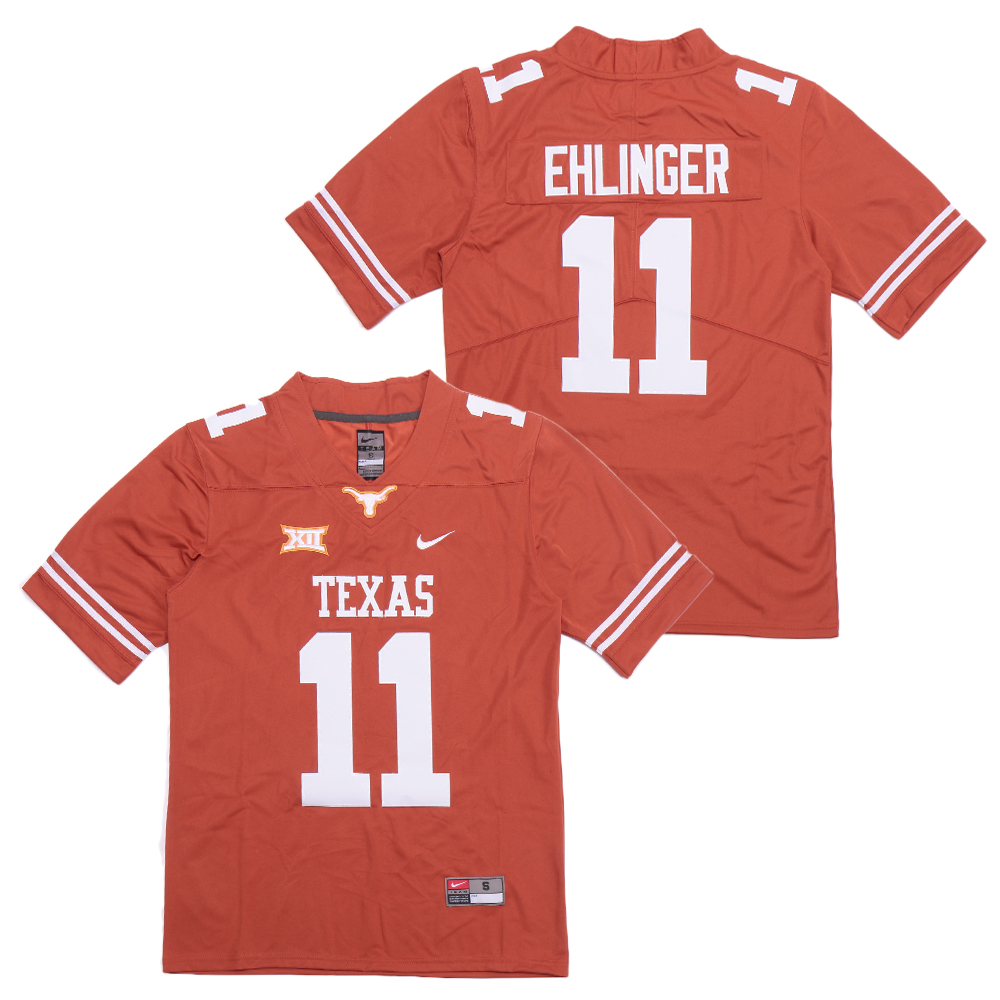 Texas Longhorns 11 Sam Ehlinger Orange Nike College Football Jersey