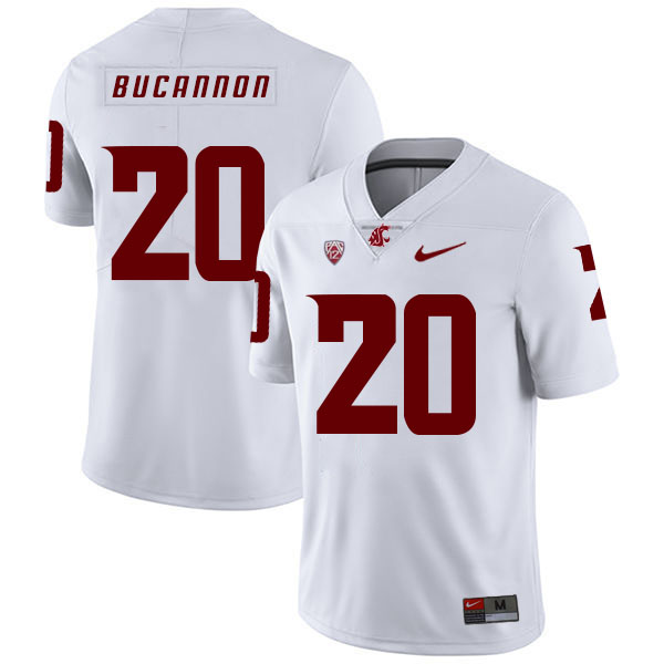 Washington State Cougars 20 Deone Bucannon White College Football Jersey