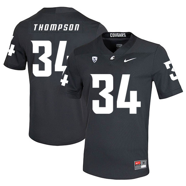 Washington State Cougars 34 Jalen Thompson Black College Football Jersey