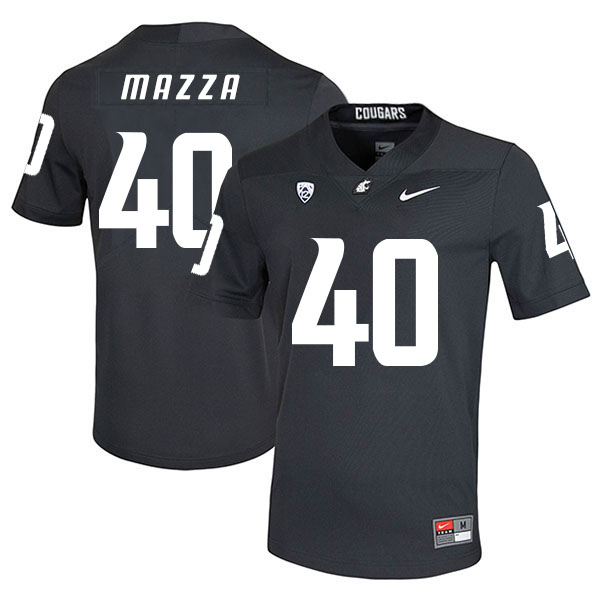 Washington State Cougars 40 Blake Mazza Black College Football Jersey