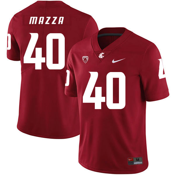 Washington State Cougars 40 Blake Mazza Red College Football Jersey
