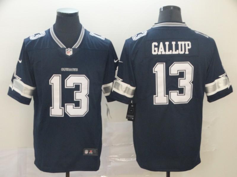 Nike Cowboys 13 Michael Gallup Navy Vapor Untouchable Limited Jersey