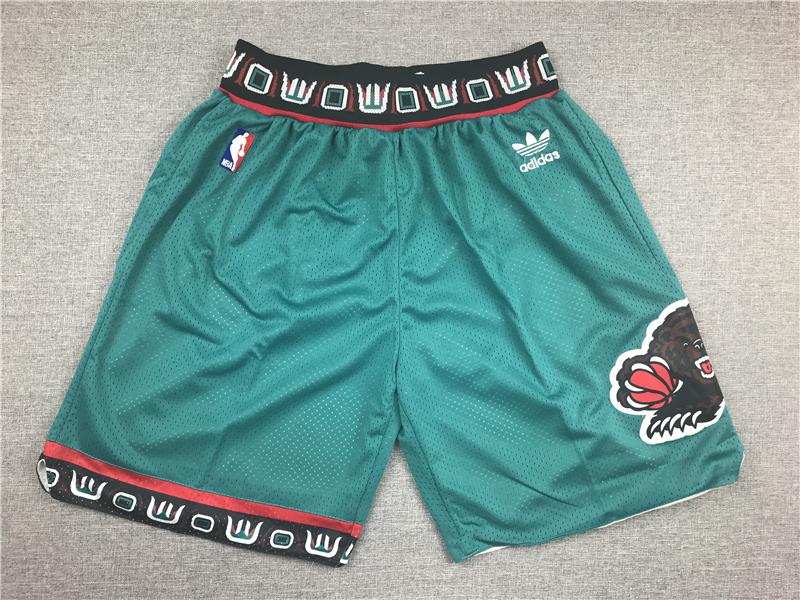 Grizzlies Green Mesh Swingman Shorts