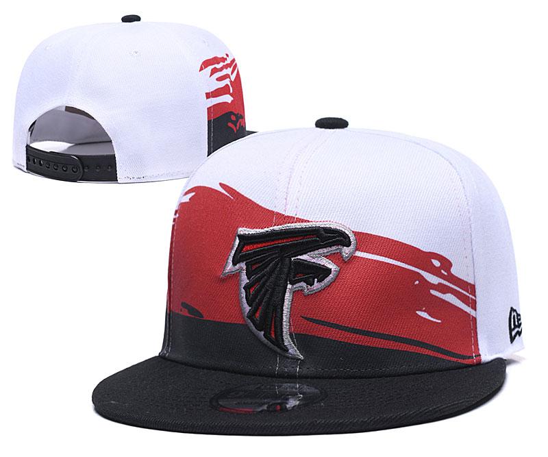 Falcons Team Logo White Black Adjustable Hat GS