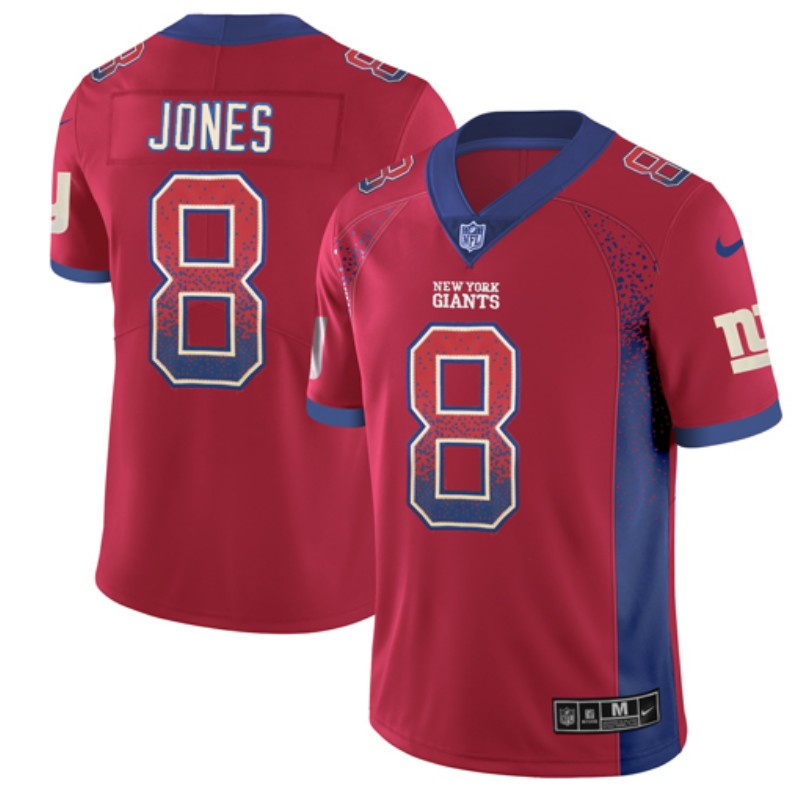Nike Giants 8 Daniel Jones Red Draft Fashion Limited Jersey