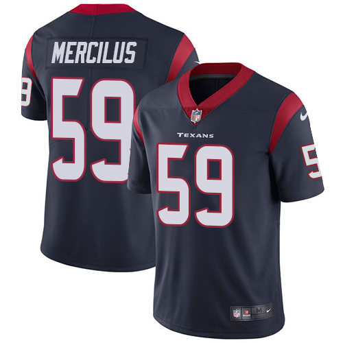 Nike Texans 59 Whitney Mercilus Navy Vapor Untouchable Player Limited Jersey