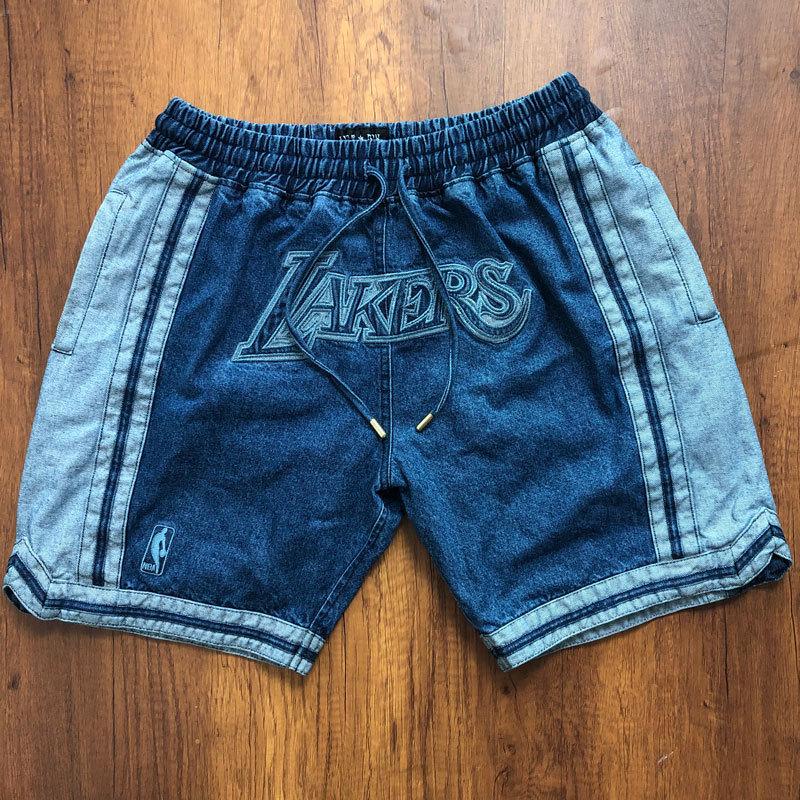 Lakers Light Blue Pockets Swingman Shorts