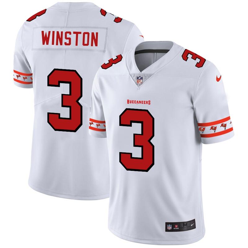 Nike Buccaneers 3 Jameis Winston White 2019 New Vapor Untouchable Limited Jersey