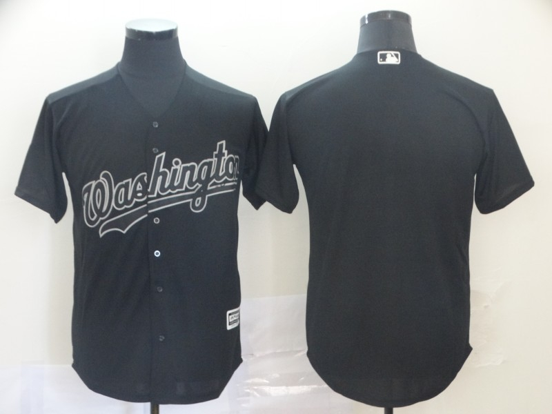 Nationals Blank Black Flexbase Jersey