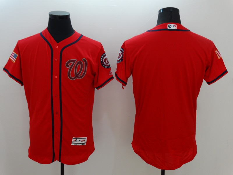 Nationals Blank Red Flexbase Jersey