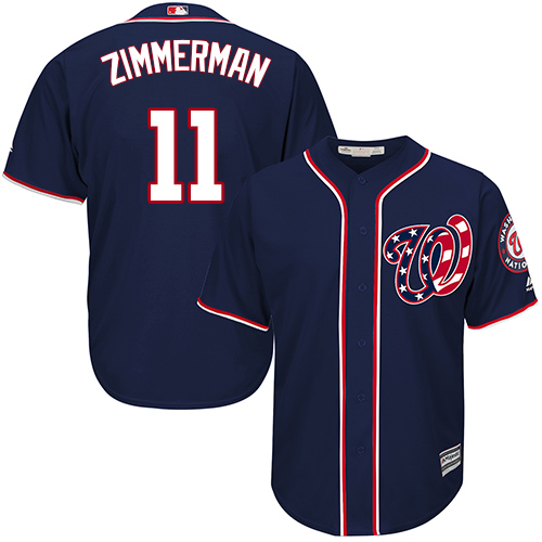 Nationals 11 Ryan Zimmerman Navy Cool Base Jersey