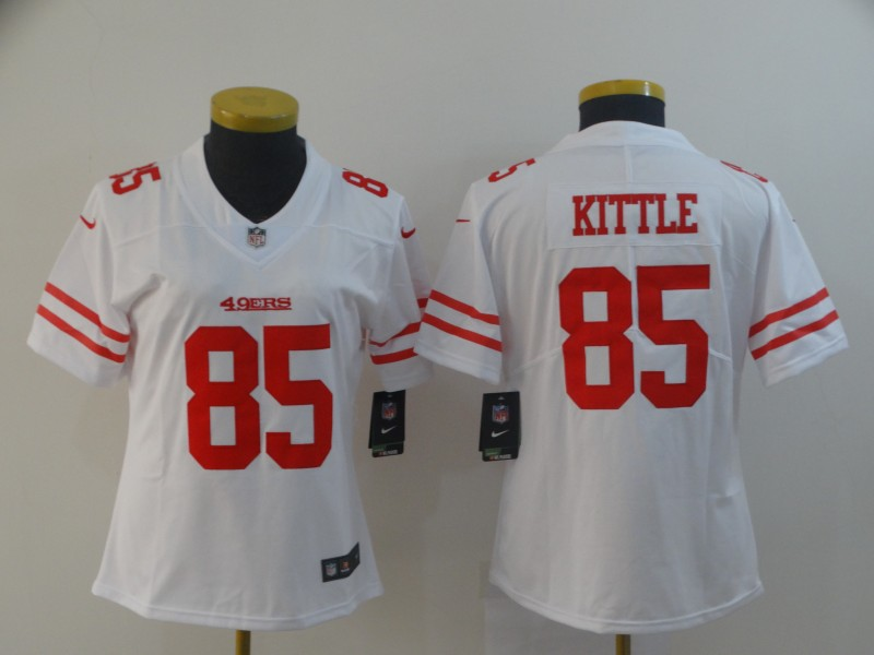 Nike 49ers 85 George Kittle White Women Vapor Untouchable Limited Jersey