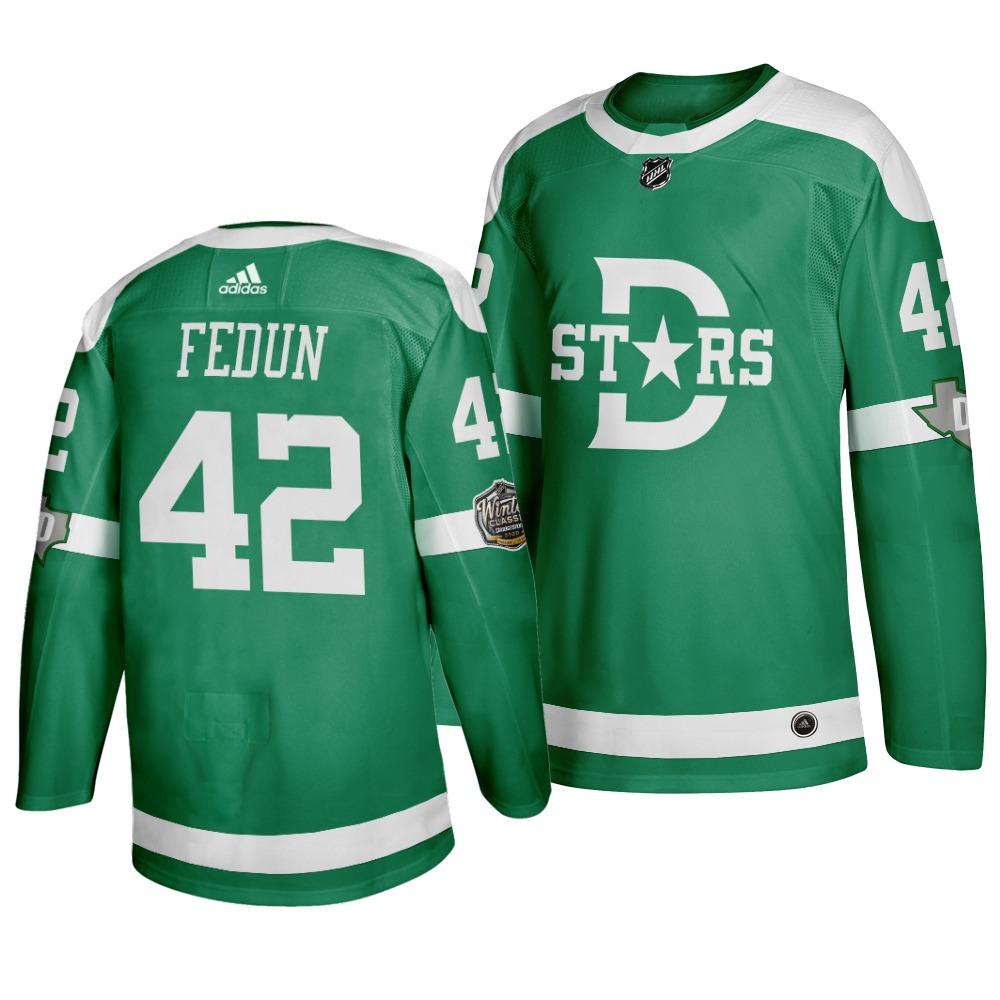 Stars 42 Taylor Fedun Green 2020 Winter Classic Adidas Jersey