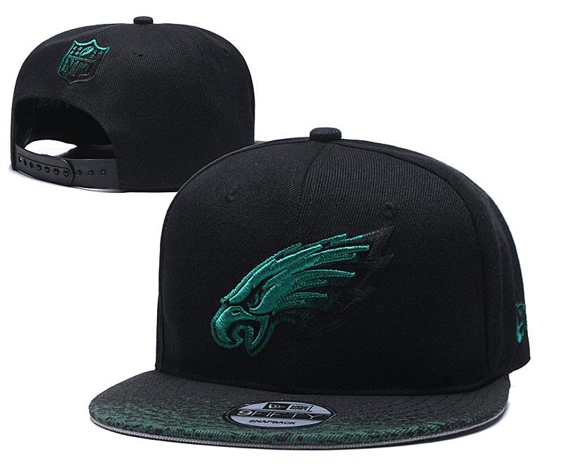Eagles Team Logo Black Adjustable Hat YD