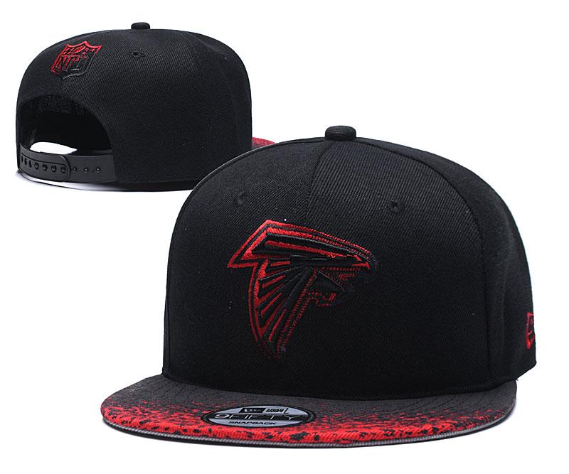 Falcons Team Logo Black Adjustable Hat YD