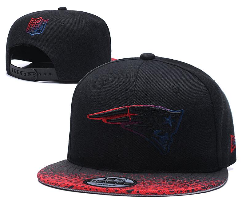 Patriots Team Logo Black Adjustable Hat YD