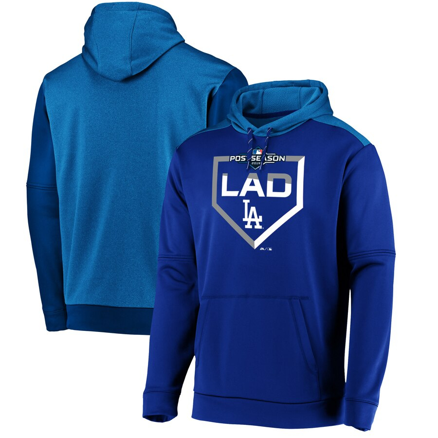 Los Angeles Dodgers Majestic 2019 Postseason Dugout Authentic Pullover Hoodie Royal