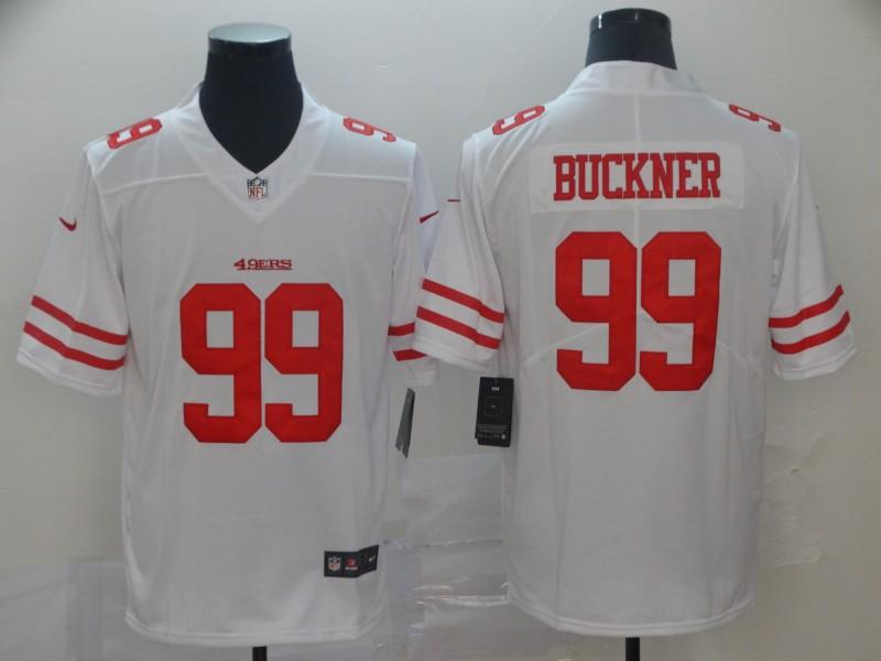 Nike 49ers 99 DeForest Buckner White Vapor Untouchable Limited Jersey