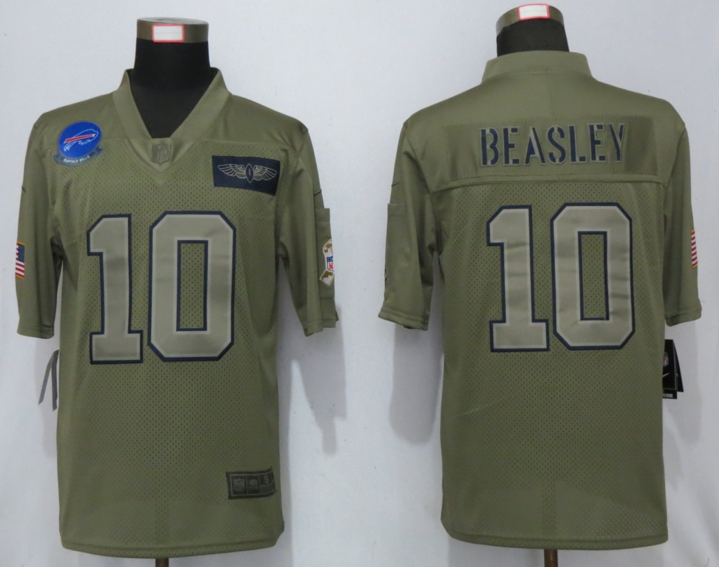Nike Bills 10 Cole Beasley 2019 Olive Salute To Service Limited Jersey