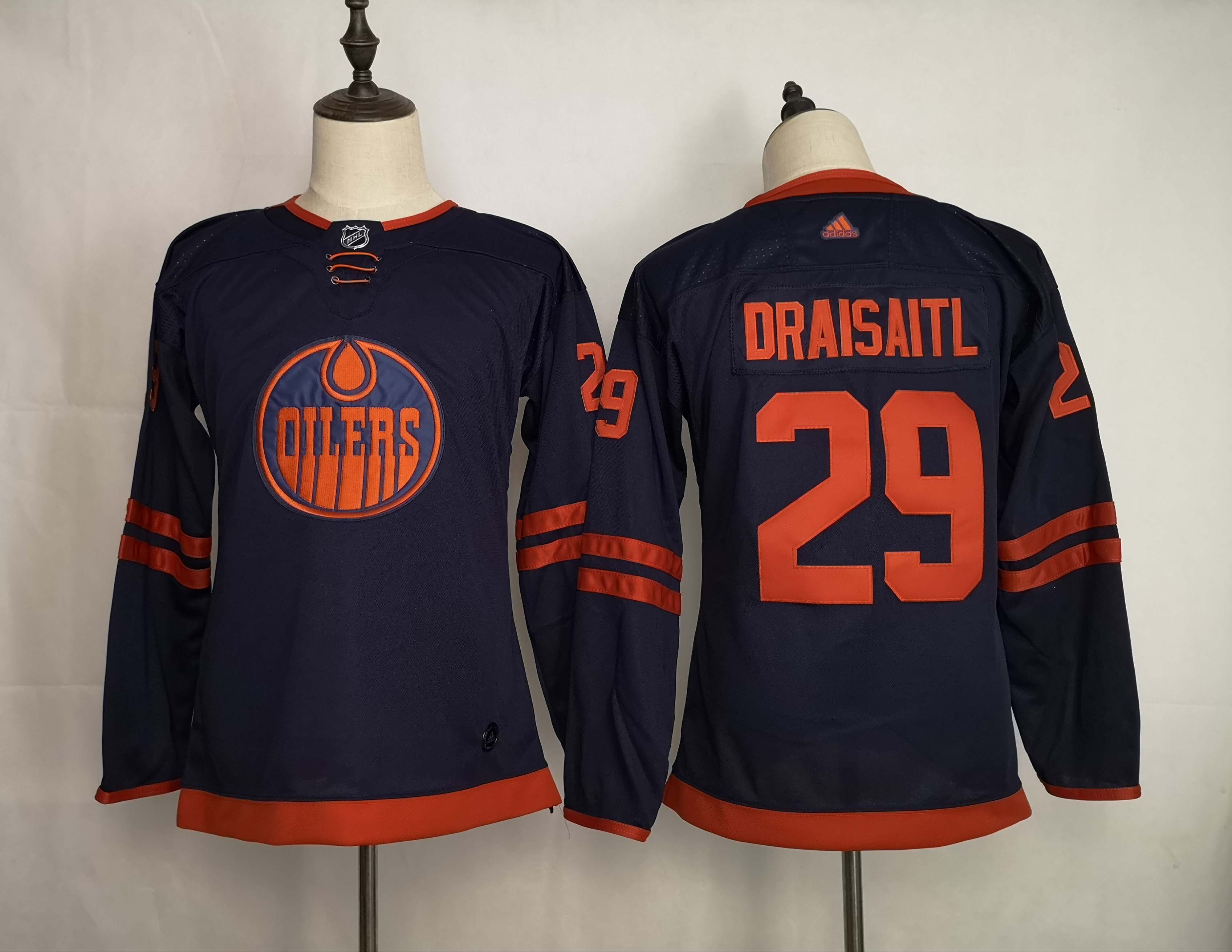 Oilers 29 Leon Draisaitl Navy Youth 50th anniversary Adidas Jersey