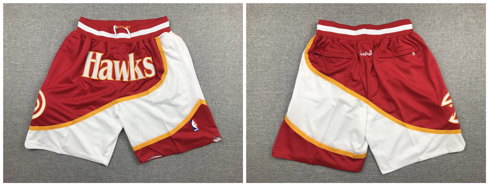 Hawks Red Just Don Mesh Shorts