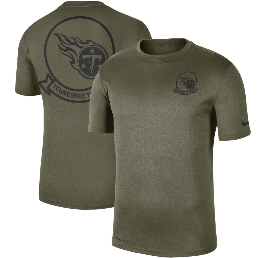 Men's Tennessee Titans Nike Olive 2019 Salute to Service Sideline Seal Legend Performance T-Shirt