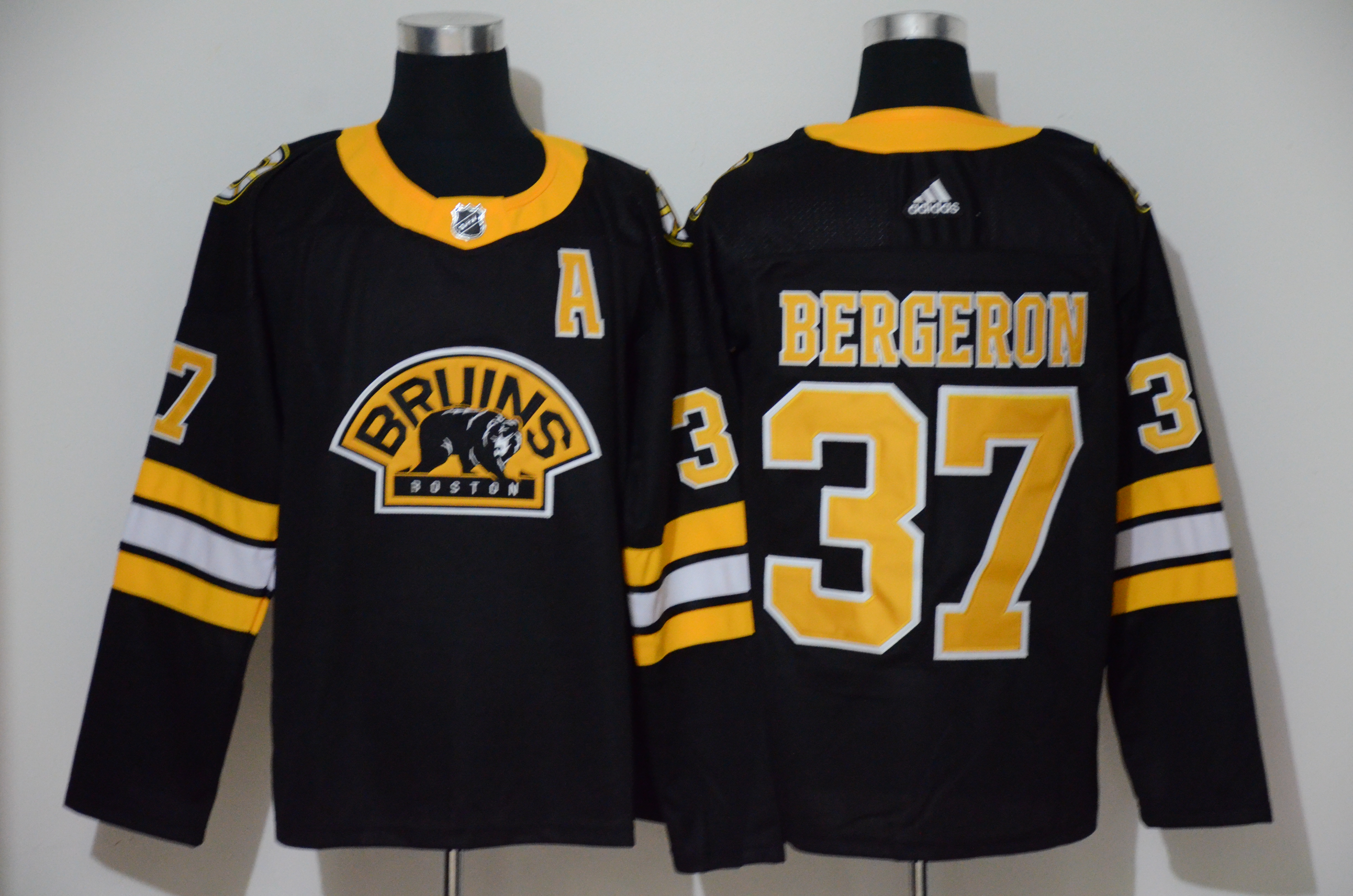 Bruins 37 Patrice Bergeron Black 3rd Adidas Jersey