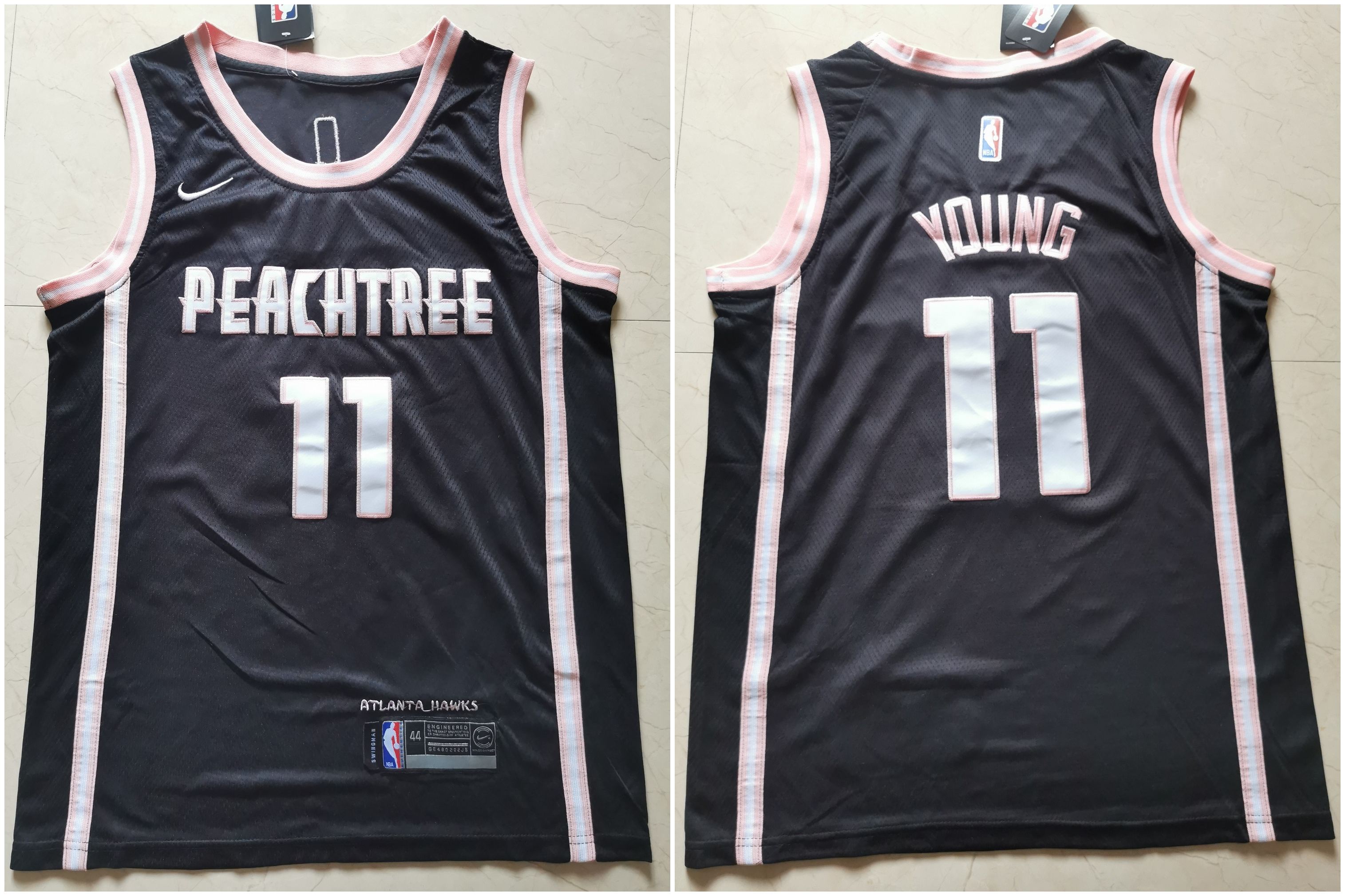 Hawks 11 Trae Young Black Nike City Edition Swingman Jersey