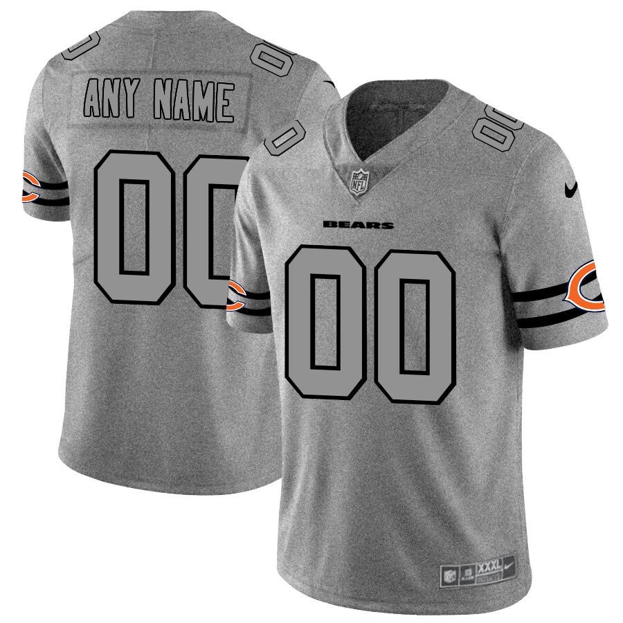 Nike Bears Customized 2019 Gray Gridiron Gray Vapor Untouchable Limited Jersey