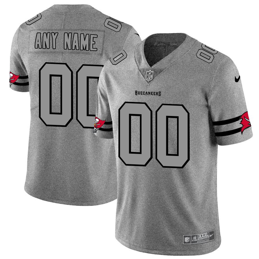 Nike Buccaneers Customized 2019 Gray Gridiron Gray Vapor Untouchable Limited Jersey