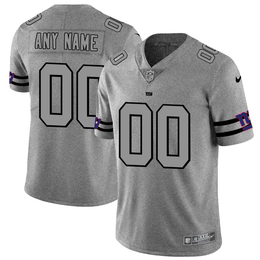 Nike Giants Customized 2019 Gray Gridiron Gray Vapor Untouchable Limited Jersey