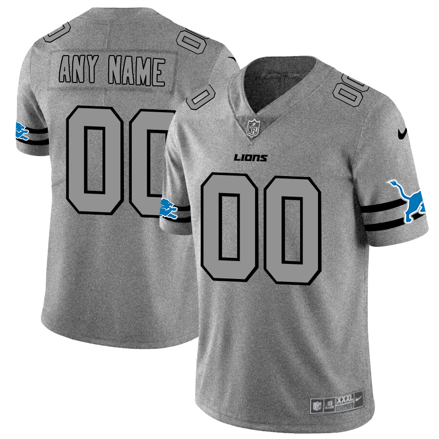Nike Lions Customized 2019 Gray Gridiron Gray Vapor Untouchable Limited Jersey