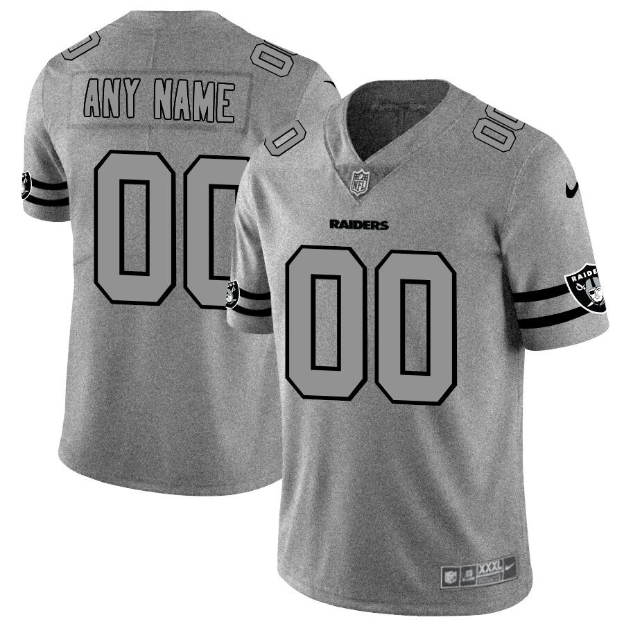 Nike Raiders Customized 2019 Gray Gridiron Gray Vapor Untouchable Limited Jersey