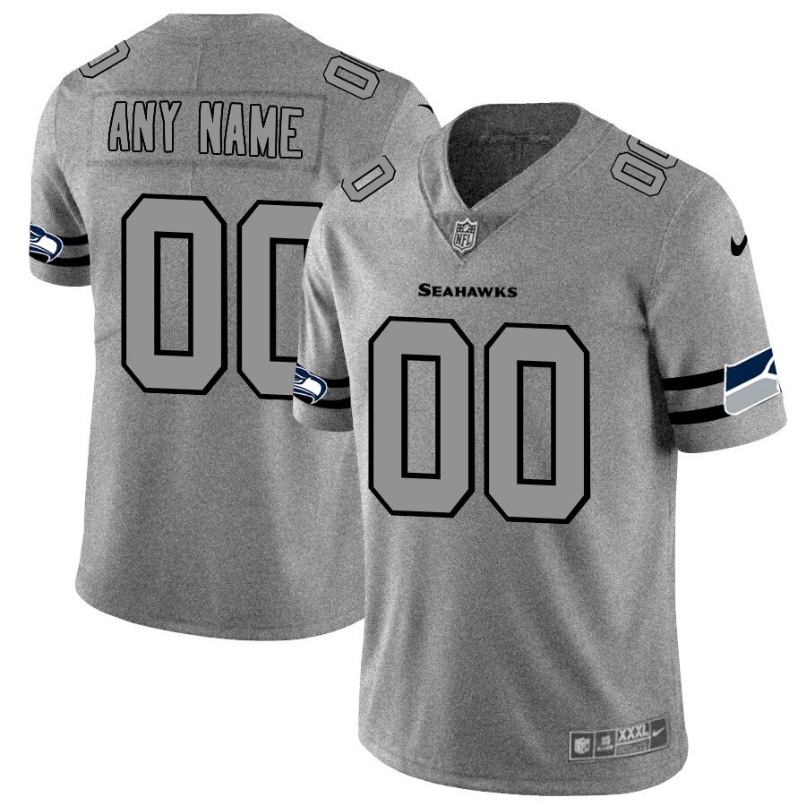 Nike Seahawks Customized 2019 Gray Gridiron Gray Vapor Untouchable Limited Jersey
