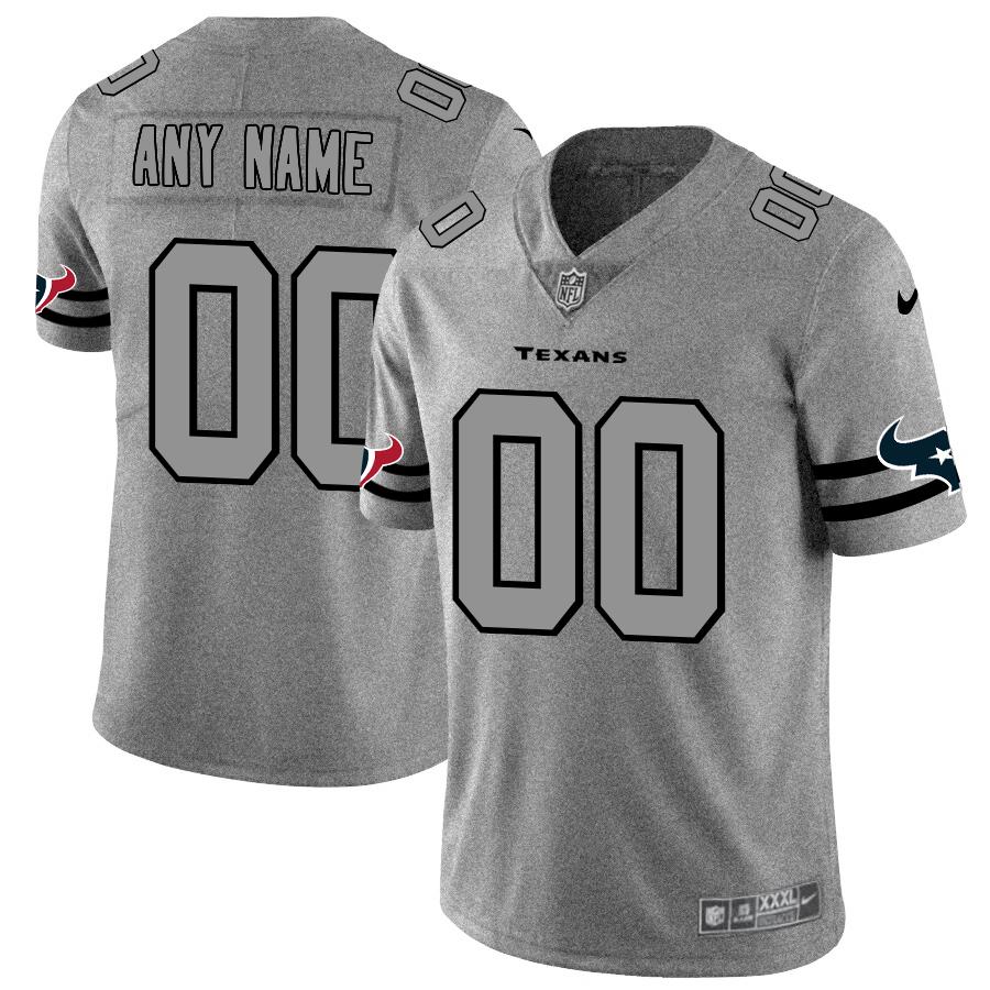 Nike Texans Customized 2019 Gray Gridiron Gray Vapor Untouchable Limited Jersey