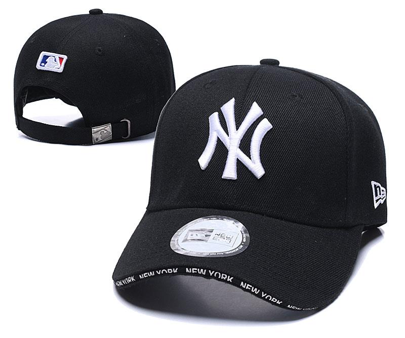 Yankees Fresh Logo Black Speak Adjustable Hat TX