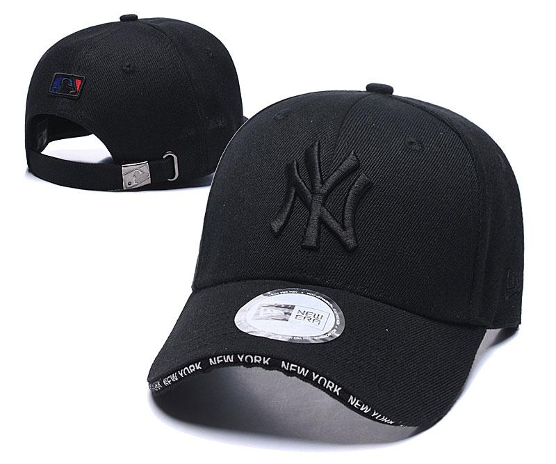Yankees Team Logo All Black Speak Adjustable Hat TX