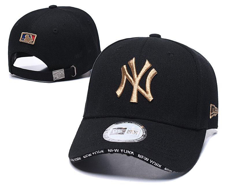 Yankees Team Logo Black Speak Adjustable Hat TX