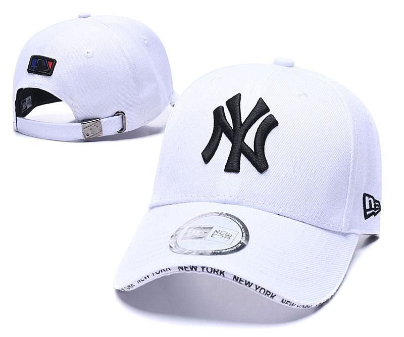 Yankees Team Logo White Speak Adjustable Hat TX