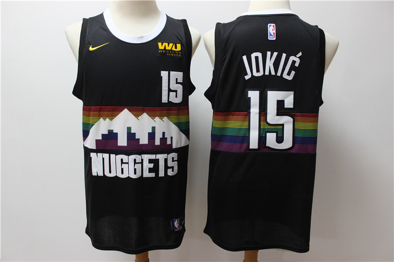 Nuggets 15 Nikola Jokic Black 2019-20 City Edition Nike Swingman Jersey