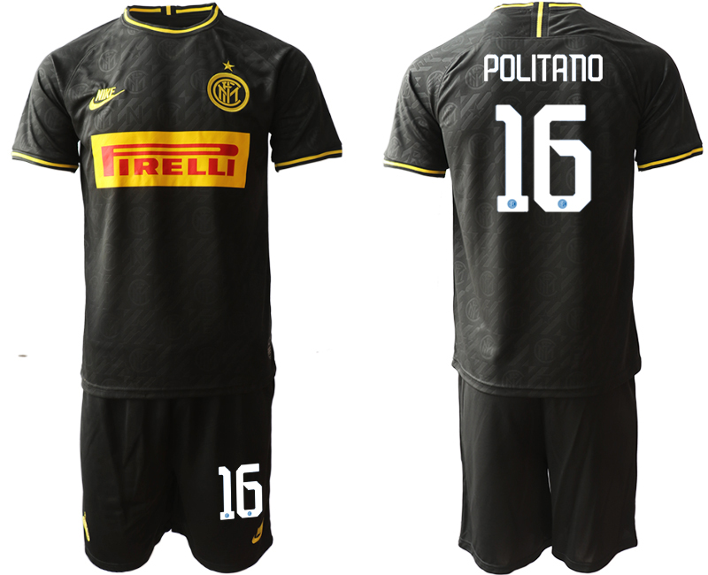 2019-20 Inter Milan 16 POLITANO Third Away Soccer Jersey