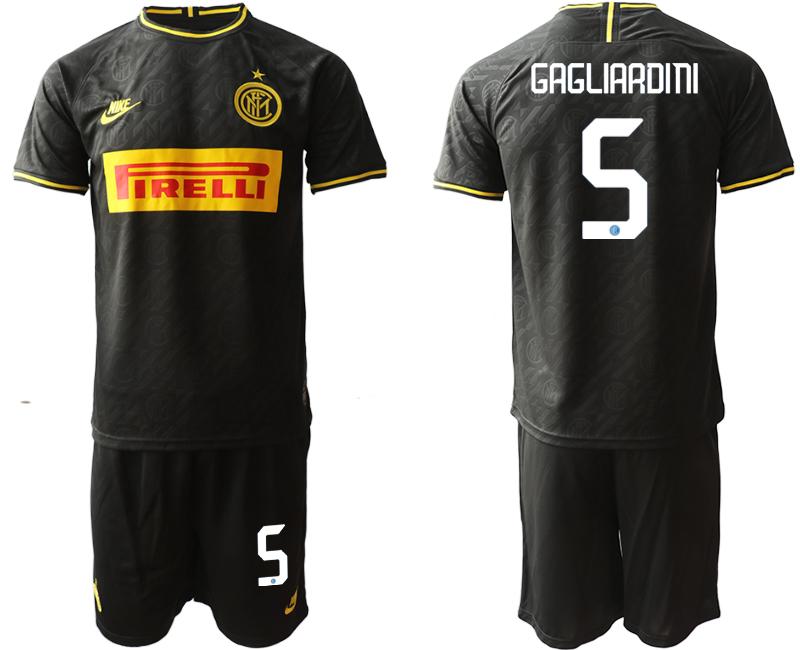 2019-20 Inter Milan 5 GAGLIARDINI Third Away Soccer Jersey