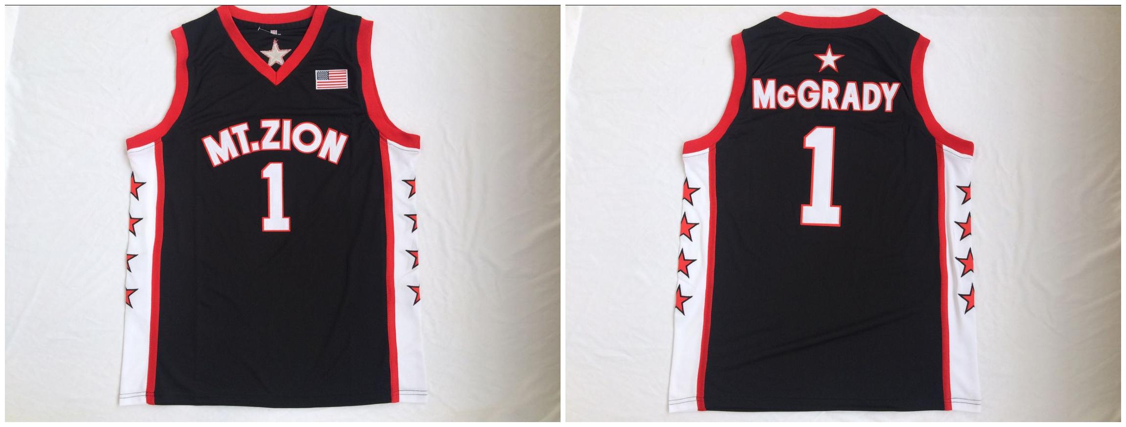 Mount Zion 1 Tracy McGrady Black College Basketball Jersey