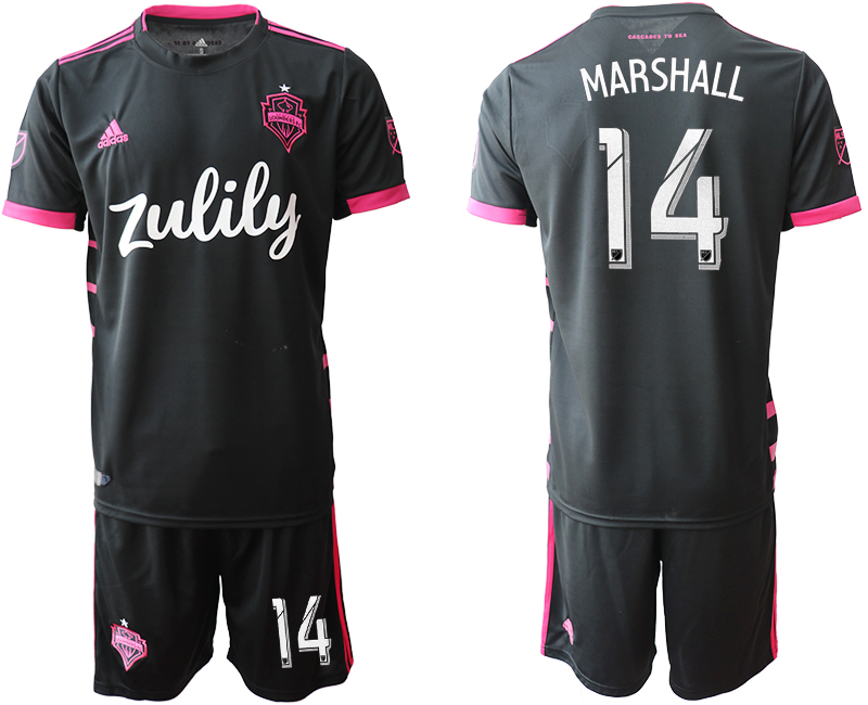 2019-20 Seattle Sounders 14 MARSHALL Away Soccer Jersey