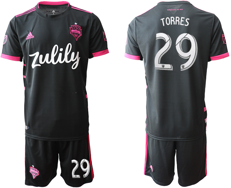 2019-20 Seattle Sounders 29 TORRES Away Soccer Jersey