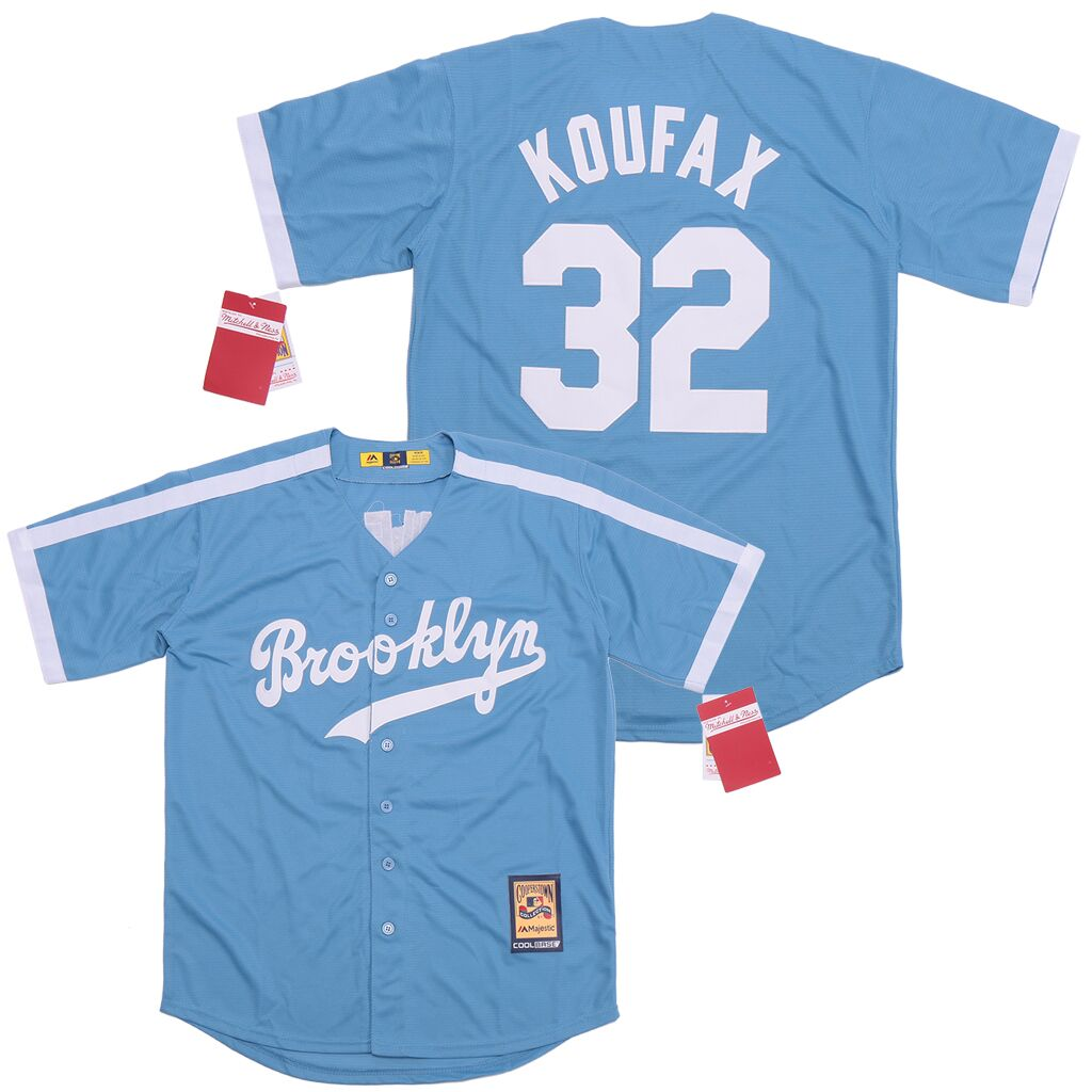 Dodgers 32 Sandy Koufax Blue Cooperstown Collection Jersey