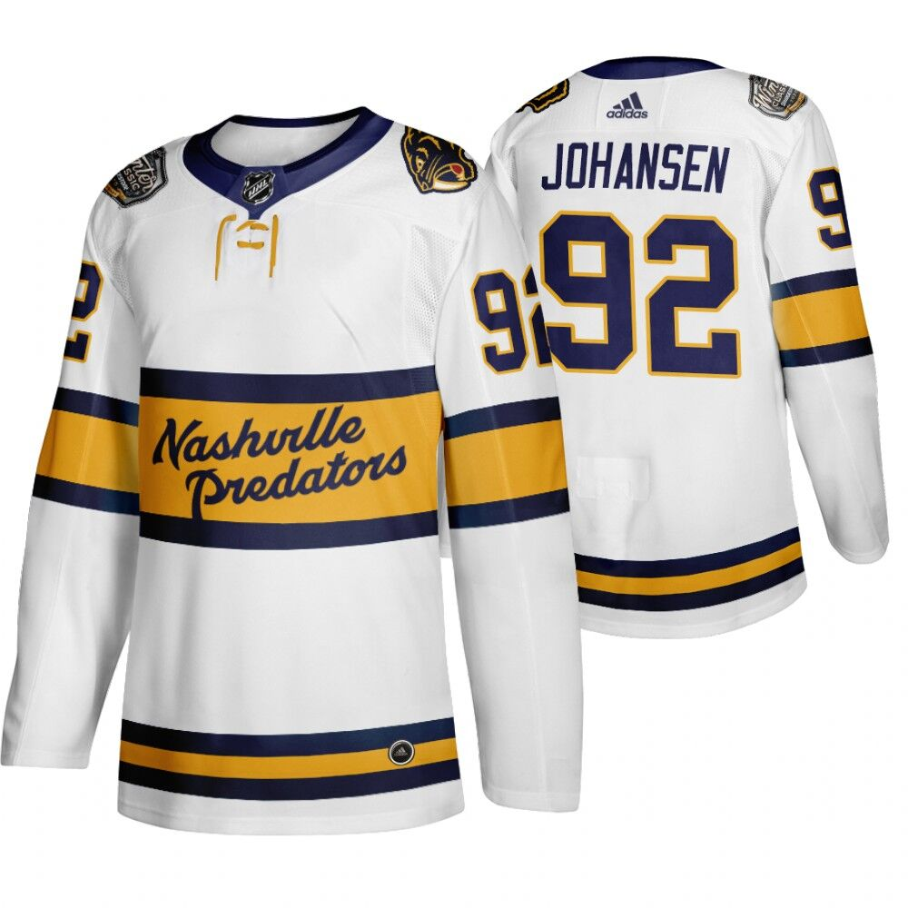 Predators 92 Ryan Johansen White 2020 Winter Classic Adidas Jersey