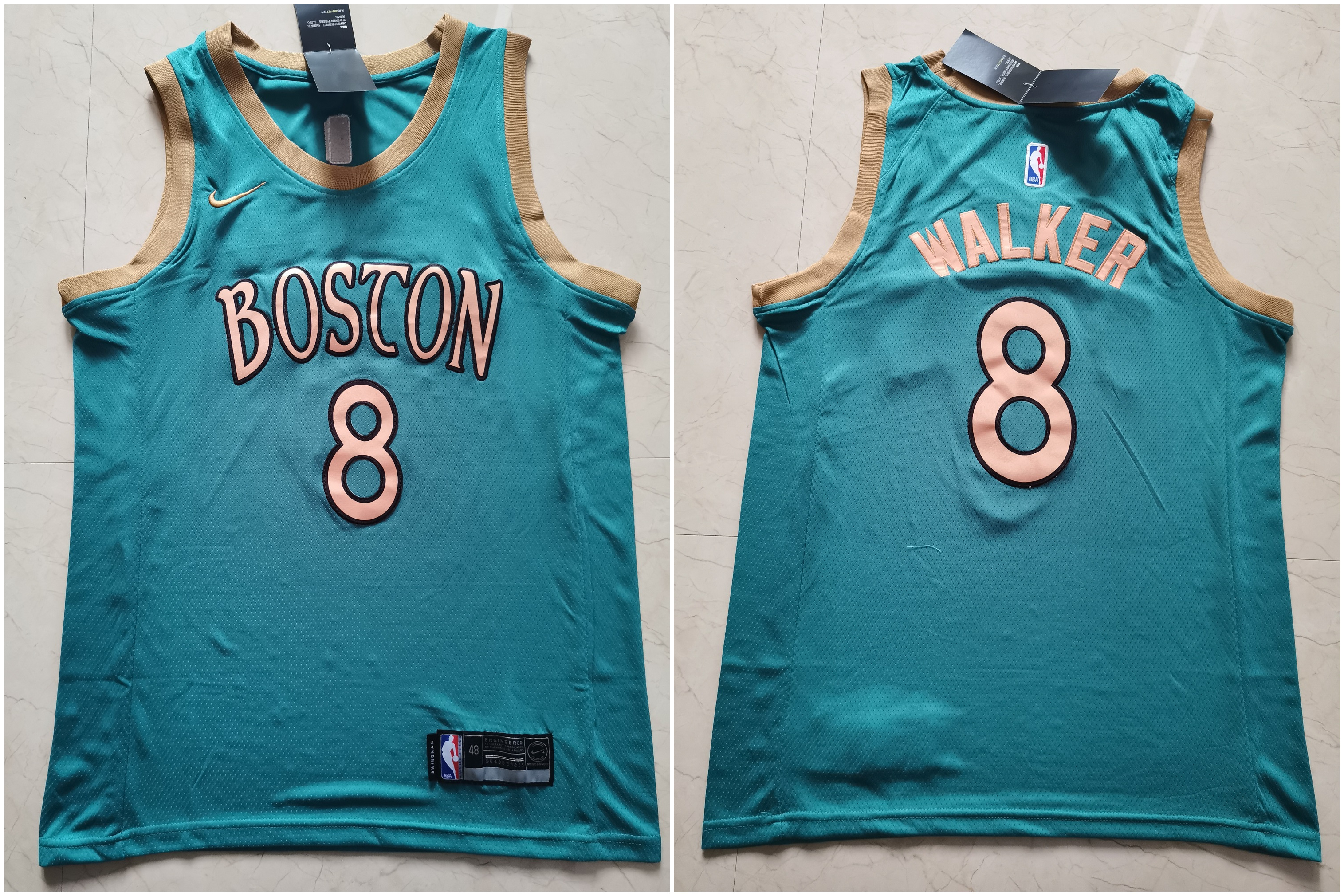 Celtics 8 Kemba Walker Blue 2019-20 City Edition Swingman Jersey