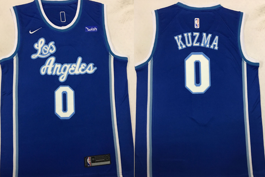 Lakers 0 Kyle Kuzma Blue Nike Swingman Jersey